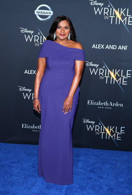 Mindy Kaling In Greta Constantine At The A Wrinkle In Time Los Angeles Premiere Combo Dress Celebrity Style Red Carpet Mindy Kaling Style