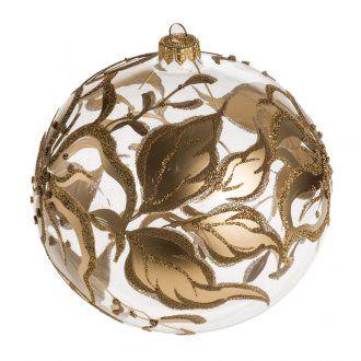 Bola de Navidad vidrio con decoraciones en flores de 15 cm | venta online en…