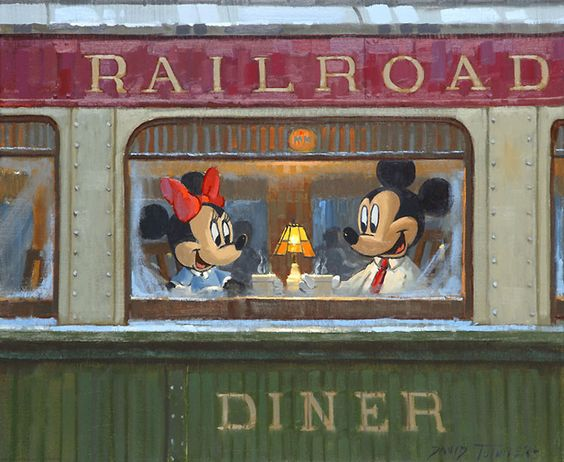 David Tutwiler - Mickey Mouse - Dinner on the Diner - world-wide-art.com