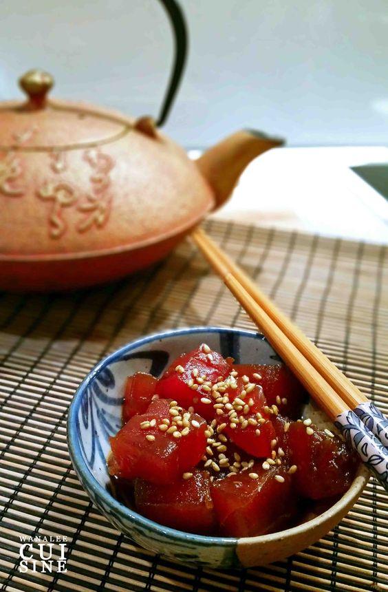 Sashimi de thon teriyaki épicé