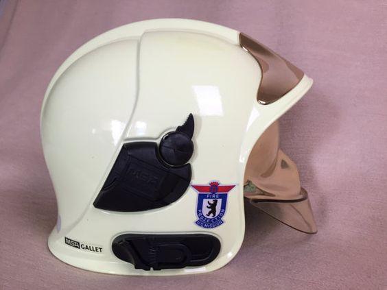 Firefighter's helmet MSA Gallet F1 SF von nostalgiehauscom auf Etsy