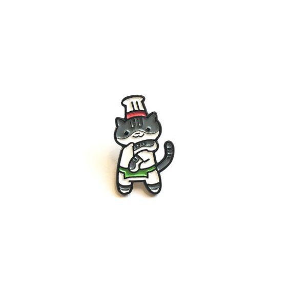 Guy Furry Enamel Pin Neko Atsume by TheSilentBell on Etsy