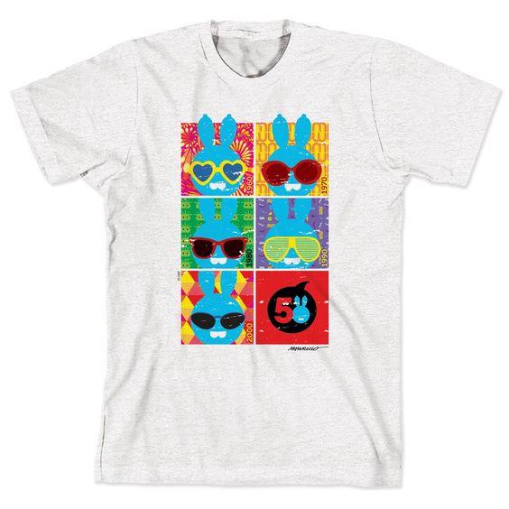 Camiseta Turma da Mônica 50 Anos - Evolução Sansão