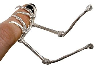 Julia deVille: Intriguing Rings, Weird Jewelry Rings, Jewelry Legs, Rings Designs, Weird Rings, Funky Rings, Crazy Rings, Jewelry Jewellery, Bird Legs