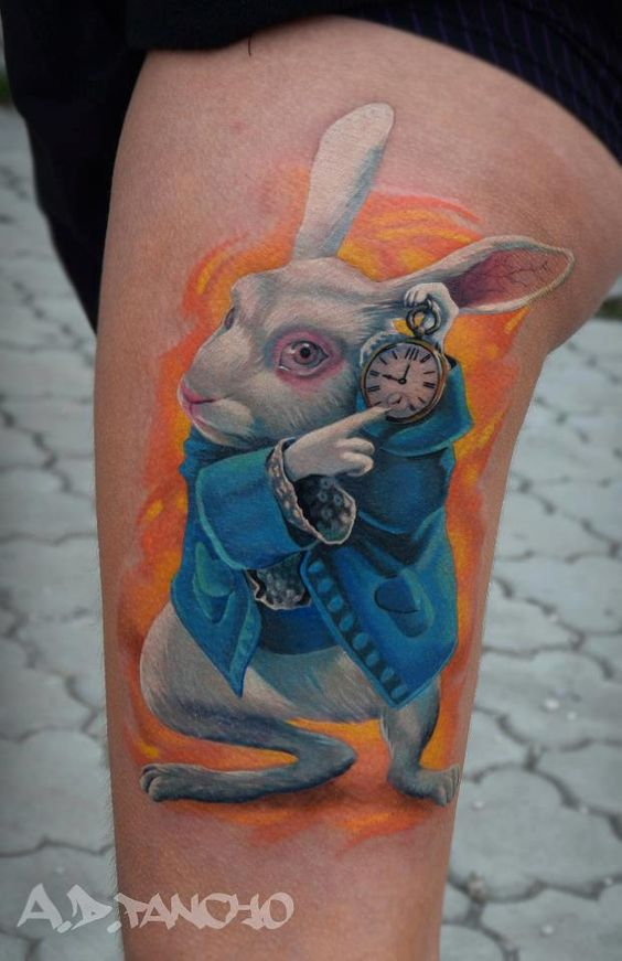 Alice in Wonderland tattoo :) id put a small one on my ...