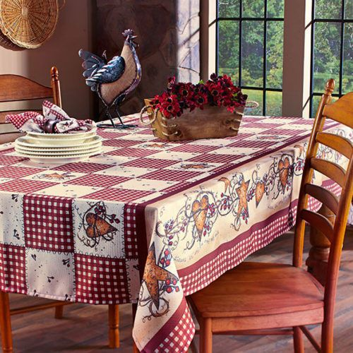 This Rustic Decor For The Home Country Hearts And Stars Tablecloth Is One Of Our Kitchen Decorating Ideas Include Decor Country Star Decor Country House Decor