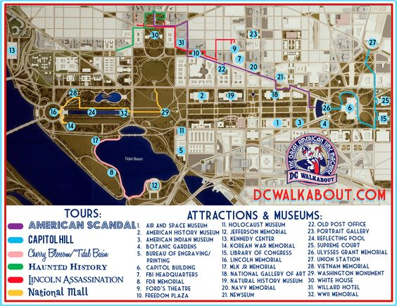 Washington D.C. tourist guide map - Pesquisa Google