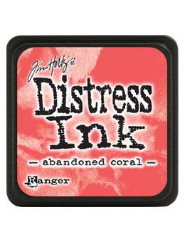 Tim Holtz Distress Mini Ink Pad ABANDONED CORAL Ranger