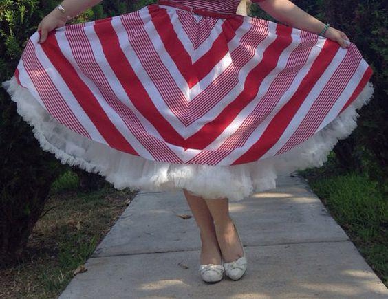 Custom gathered full swing skirt