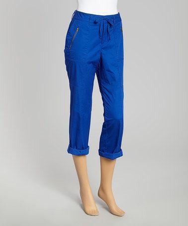 Caribbean Joe International Blue Cargo Capri Pants - Women | Capri ...