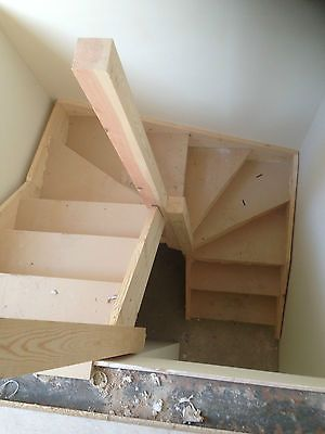 double kite winder staircases made to measure staircases. Black Bedroom Furniture Sets. Home Design Ideas