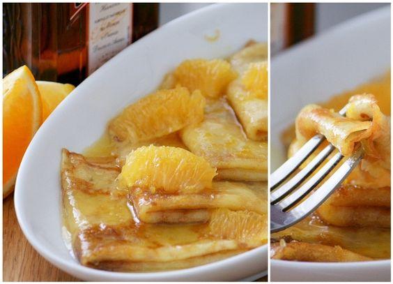 Вариант знаменитого французского десерта, невероятная вкуснятина. Блинчики получаются очень тонкие, лёгкие, но главное - соус. Сладковато-карамельный, чуть терпковатый, с опьяняющим апельсиновым ароматом... Настоящее блаженство :).