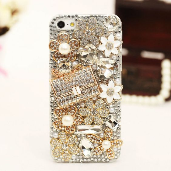 Luxury bling gold pearl diamond crystal case cover for iphone6 plus 5s 5c 4s xb2 #UnbrandedGeneric