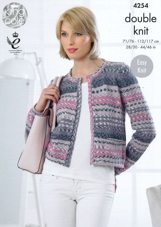 Sweater and Cardigan in King Cole Drifter DK (4254) King Cole Knitting Patt...