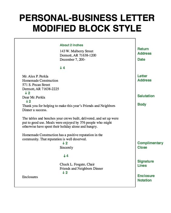 Full Block Business Letter Written Communication Pinterest - business reference letter