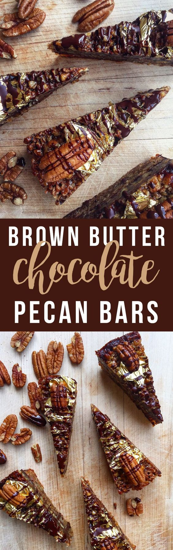 These decadent Brown Butter Chocolate Pecan Bars are richly flavored thanks to an old culinary trick: brown butter. Click to read the recipe...