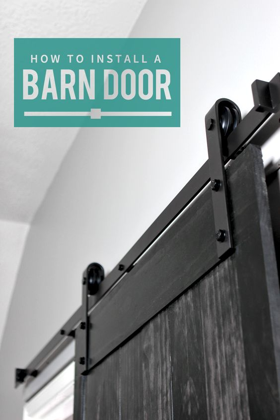 how to install a barn door sliding doors style and tutorials. Black Bedroom Furniture Sets. Home Design Ideas