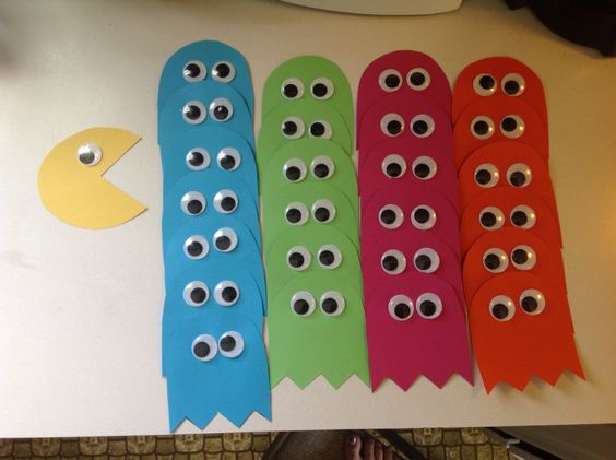 Pacman door tags. like the idea of my door tag be the pacman and the residents' doors be the ghosts