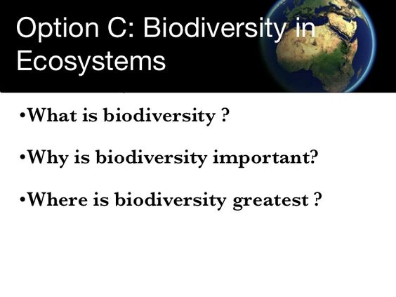 Biodiversity in Ecosystems