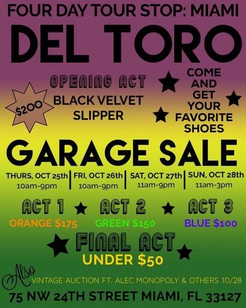 Del Toro Garage Sale From Deltoroshoes Miami Samplesale
