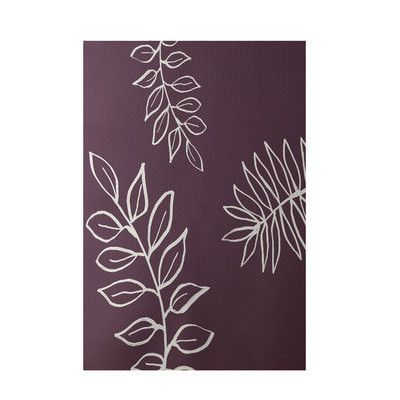 e by design Floral Purple Indoor/Outdoor Area Rug Rug Size: