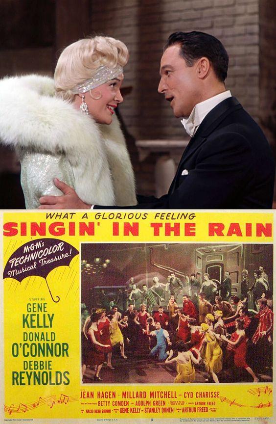 Jean Hagen as 'Lina Lamont' & Gene Kelly as 'Don Lockwood' in Singin' in the Rain (1952)