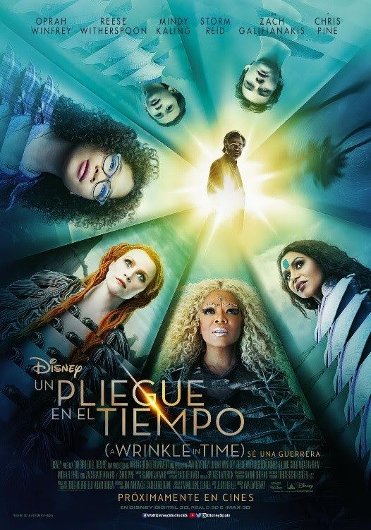 Un Pliegue En El Tiempo Poster 2018 A Wrinkle In Time In Time Movie Time Poster