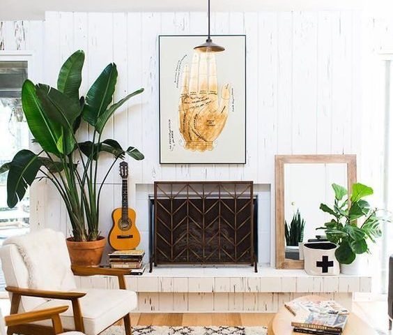 34 Ideas Para Decorar Tu Sala Con Plantas Decoracion De Interiores Fachadas Par Mid Century Modern Living Room Mid Century Living Room Home Decor Inspiration