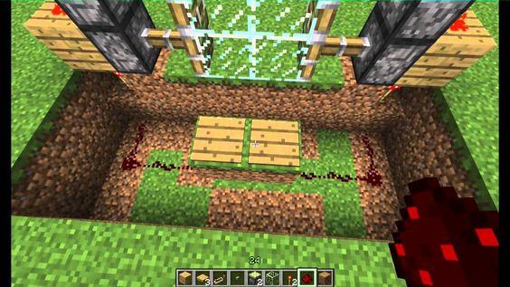 Minecraft Tutorial - Redstone Schiebetür bauen