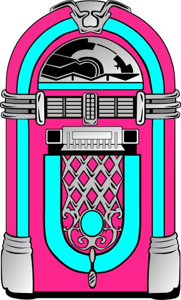 Line Art Jukebox : Jukebox clipart best shake rattle roll