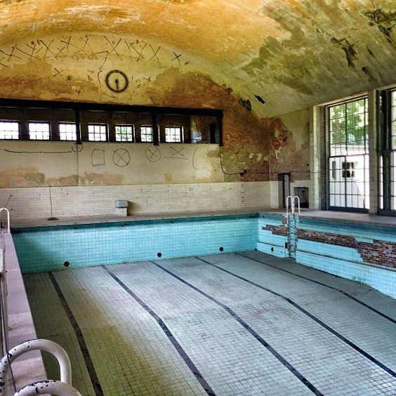 Abandoned Olympic Venues - 1936 Olympics in Berlin An abandoned swimming pool in the Nazi Olympic Village in Elstal, west of Berlin.
