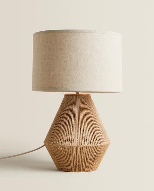 Pin By Lindsay B On Lighting Portable Lamp Modern Lamps Bedroom Jute Lamp