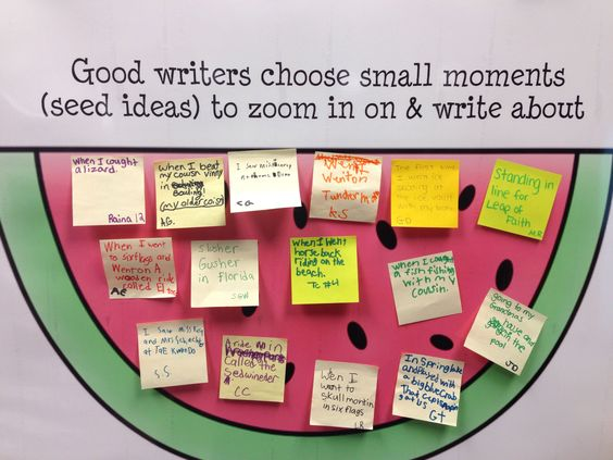Narrative Writing: Seed Ideas