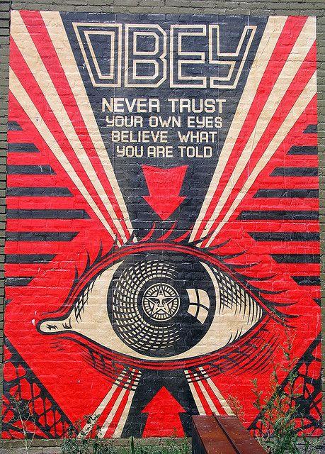 OBEY Shepard Fairey street artist ~ Psychedelic Hippie ...