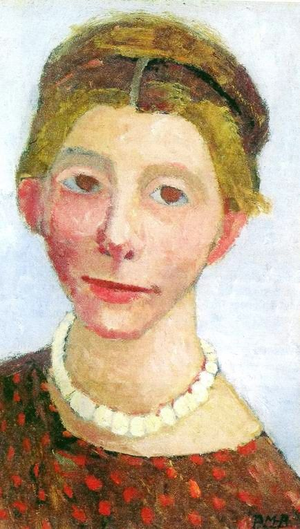 Paula Modersohn-Becker (German 1876–1907) [German Expressionism] Self-portrait with Pearl Necklace, 1906.