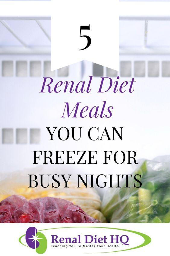 5 Renal Diet Freezer Meals