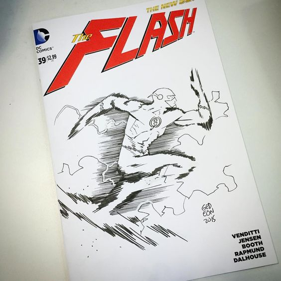 """The Flash by Juan Gideon, artist for Marvel's Ghost Racers.  #theflash #flash #barryallen #wallywest #barry #wally #fastestmanalive #⚡️ #dccomics…"""
