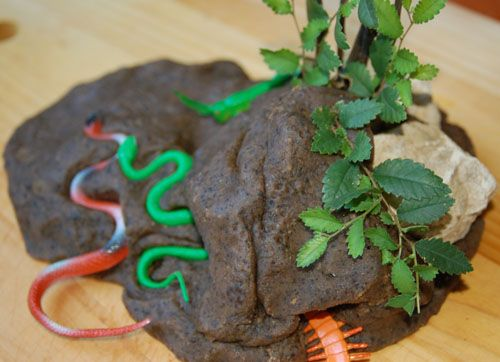"""""""mud like"""" coffee playdough - perfect for the days the kids want to go out and get """"muddy"""" but it's raining out."""