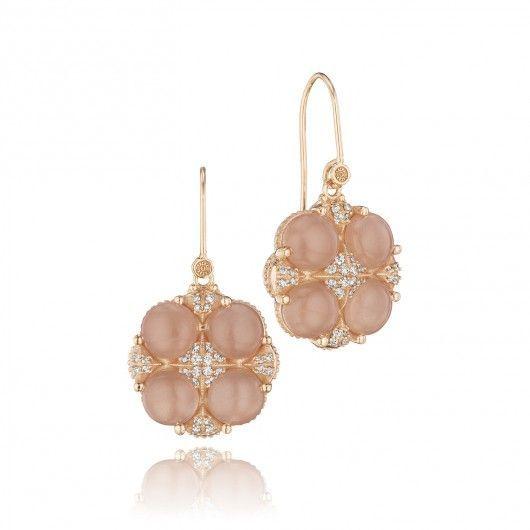 @Tacori Moon Rosé Cardinal Rose Pavé Earrings. (Style no. SE194P36) #ShopIDC