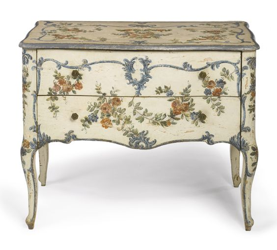 An Italian rococo polychrome-painted commode<br>Genoa, circa 1760   Lot   Sotheby's