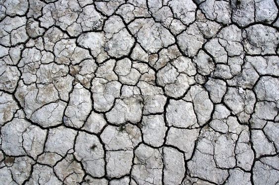 Stock image of 'A cracked dry ground texture'