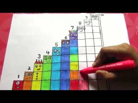 Numberblocks 1 To 10 Learn To Draw Numberblocks Colouring Pages Youtube Learn To Draw Colouring Pages Alphabet Pictures