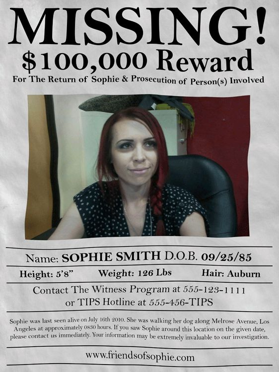 GRAPHIC DESIGN - Psychic In Suburbia Gallery Missing People - missing reward poster template
