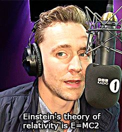 "Digital Spy: Only Tom Hiddleston can make maths sexy - watch the man in action!. ""The Thor actor could read the back of a shampoo bottle and make it sound like Shakespeare, so it's great to see him use his magnificent talent to make maths revision a bit more exciting."" Link: http://www.digitalspy.com/music/radio/news/a793276/only-tom-hiddleston-can-make-maths-sexy-watch-the-man-in-action/"