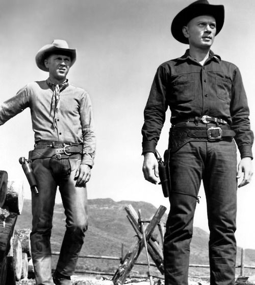 Steve McQueen and Yul Brynner in The Magnificent Seven (1960):