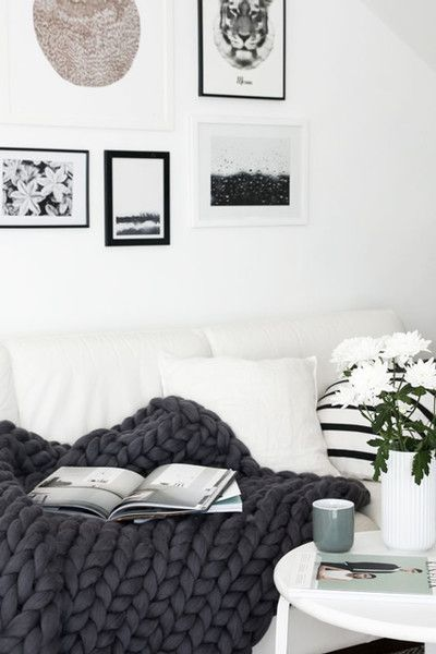 Blanket Goals - 16 Cozy Living Rooms We Want To Live In - Photos