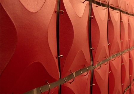 Beautiful modern red panelled screen