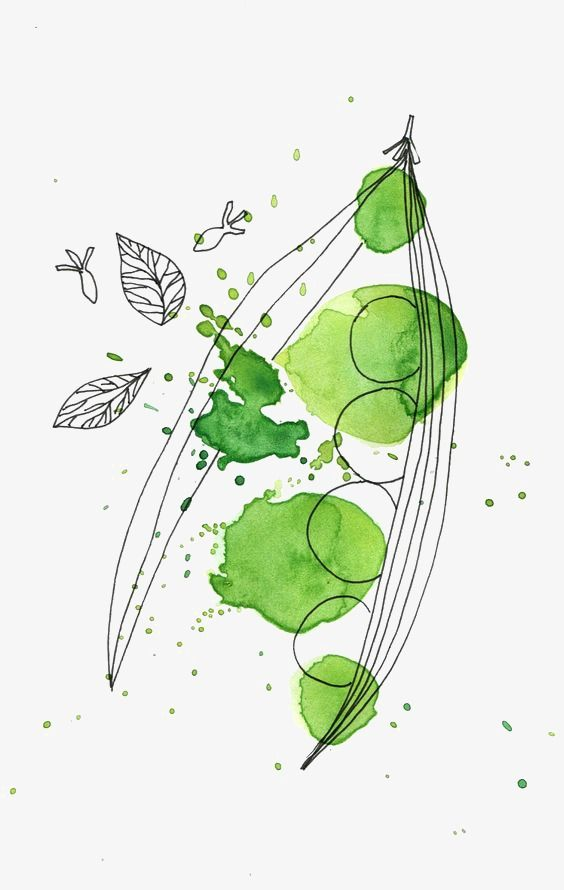 Green Watercolor Splash Watercolor Illustration Watercolor