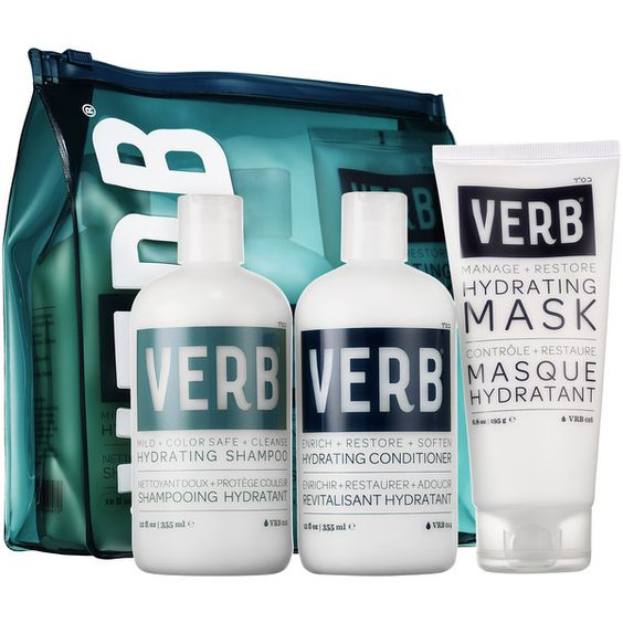 Verb Holiday Hydrate Kit Hair (1060 NIO) ❤ liked on Polyvore featuring beauty products and haircare