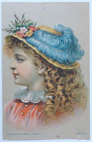 Victorian Trade Card Singer Sewing Machines Copyrighted 1879:
